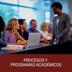 Procesos y programas académicos
